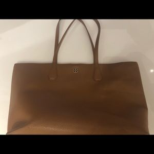 Tory Burch Pebbled Soft Leather Camel Bag
